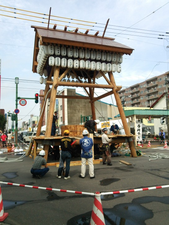 The huge 'Mochi Pounder' that is used for the Iwamizawa Summer Festival.